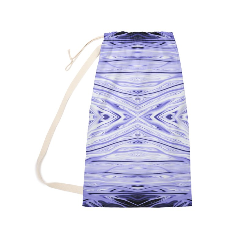 Grape Ice Firethorn III by Chris Sparks Accessories Laundry Bag Bag by Chris Sparks' Abstract Art Shop