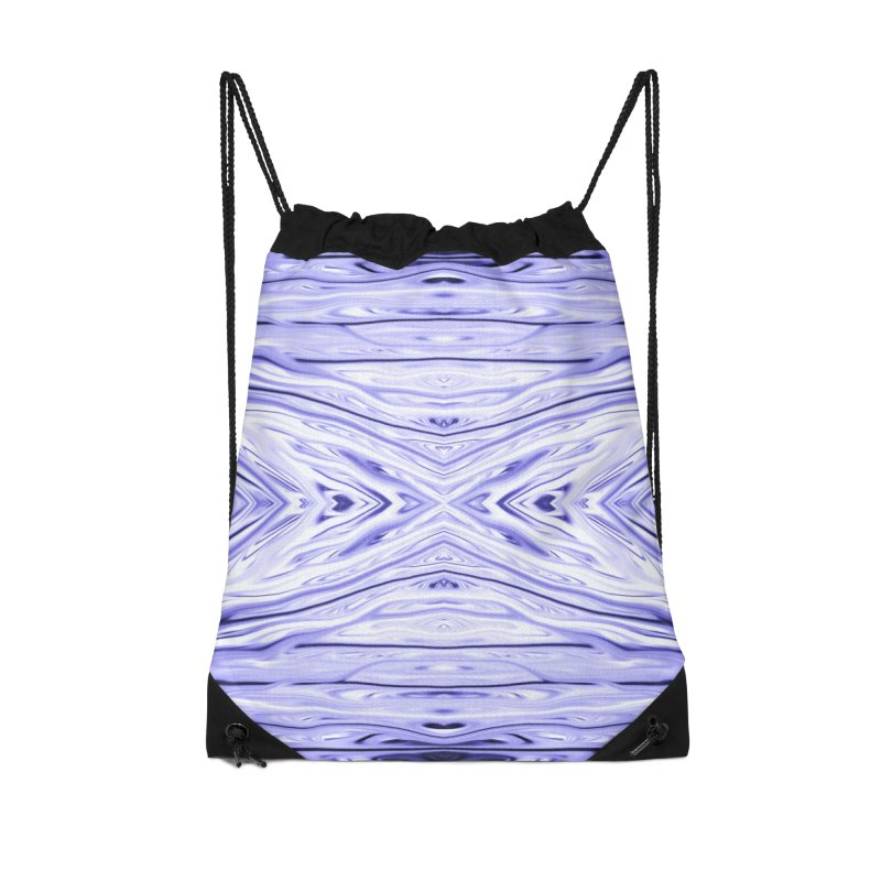 Grape Ice Firethorn III by Chris Sparks Accessories Drawstring Bag Bag by Chris Sparks' Abstract Art Shop