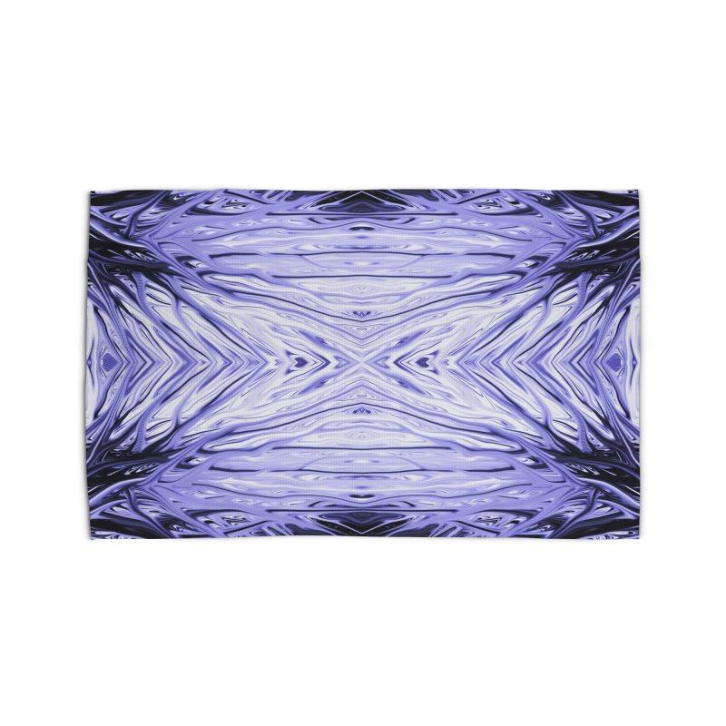 Grape Ice Firethorn III by Chris Sparks Home Rug by Chris Sparks' Abstract Art Shop