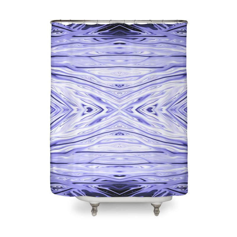 Grape Ice Firethorn III by Chris Sparks Home Shower Curtain by Chris Sparks' Abstract Art Shop