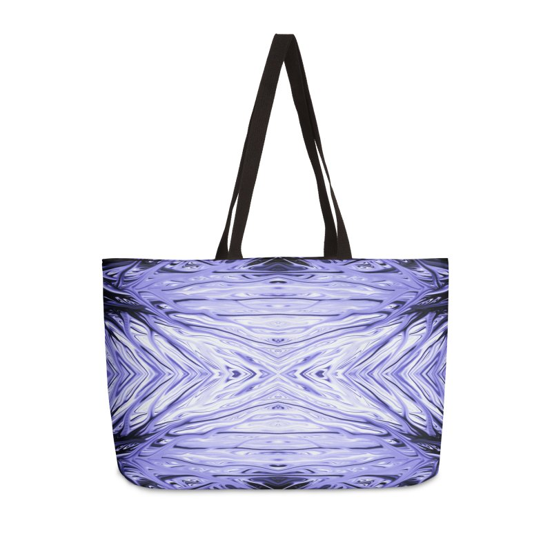 Grape Ice Firethorn III by Chris Sparks Accessories Weekender Bag Bag by Chris Sparks' Abstract Art Shop
