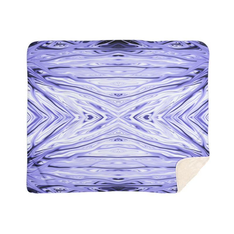 Grape Ice Firethorn III by Chris Sparks Home Sherpa Blanket Blanket by Chris Sparks' Abstract Art Shop
