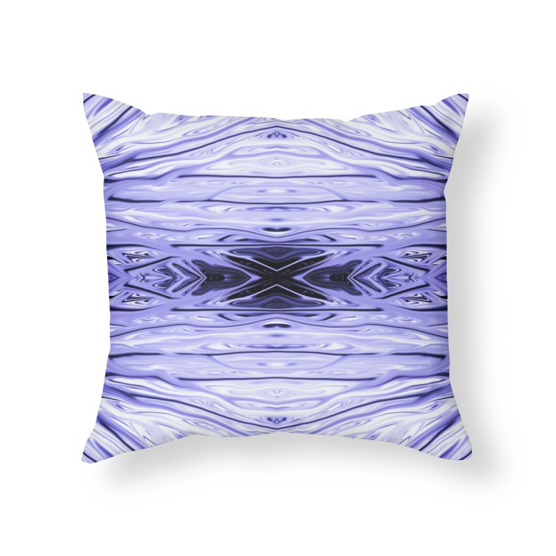 Grape Ice Firethorn IV by Chris Sparks Home Throw Pillow by Chris Sparks' Abstract Art Shop