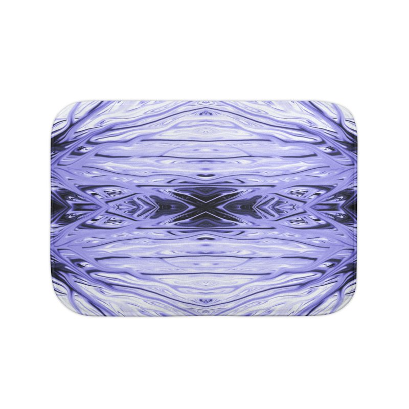 Grape Ice Firethorn IV by Chris Sparks Home Bath Mat by Chris Sparks' Abstract Art Shop