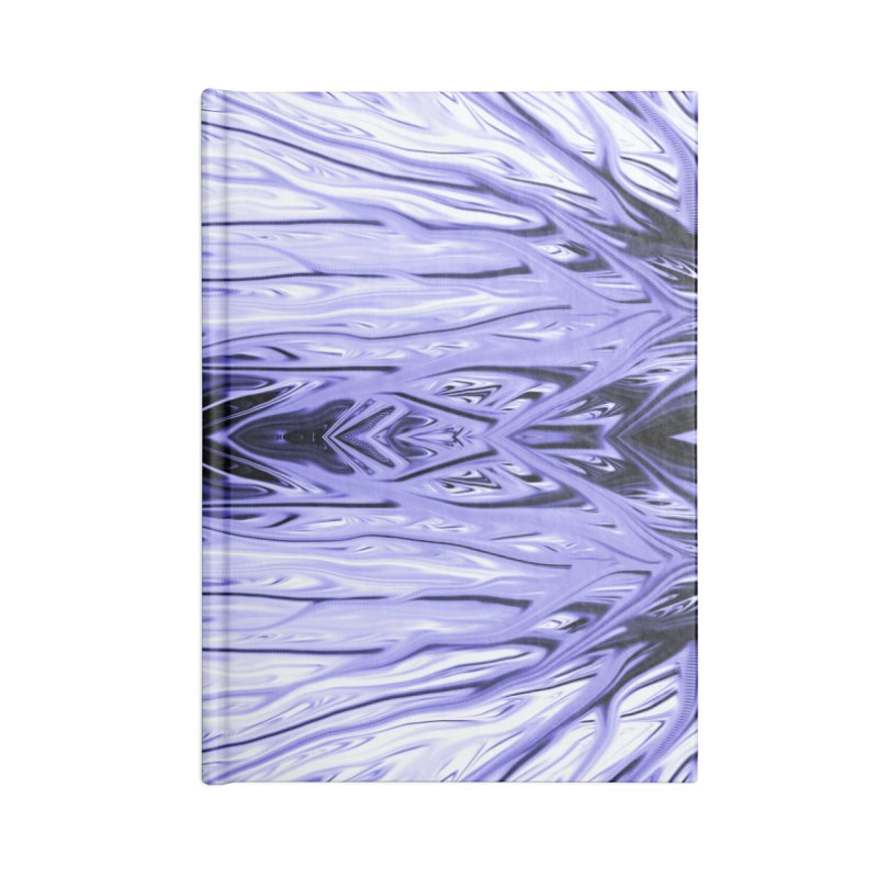 Grape Ice Firethorn IV by Chris Sparks Accessories Lined Journal Notebook by Chris Sparks' Abstract Art Shop