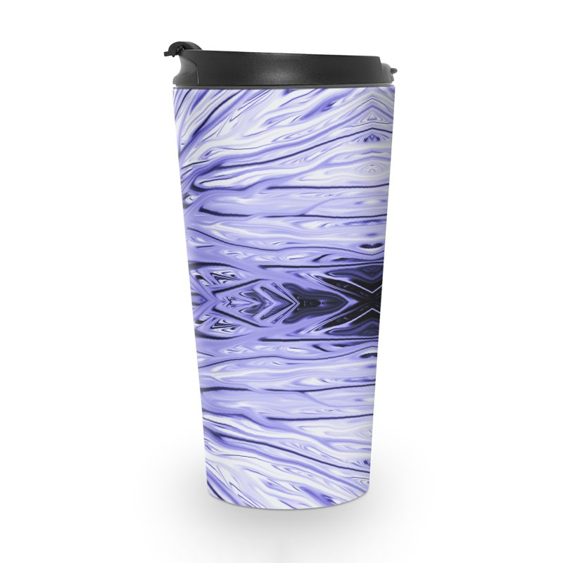 Grape Ice Firethorn IV by Chris Sparks Accessories Travel Mug by Chris Sparks' Abstract Art Shop
