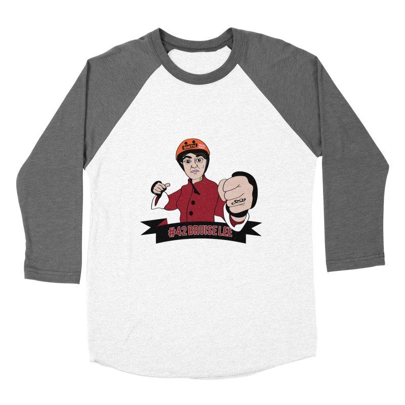 Bruise Lee Men's Baseball Triblend Longsleeve T-Shirt by Chris Talbot-Heindls' Artist Shop