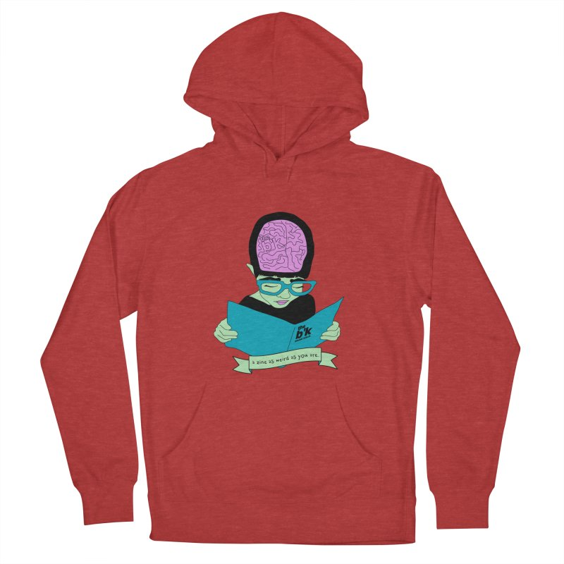 Green Zine As Weird As You Are Women's French Terry Pullover Hoody by Chris Talbot-Heindls' Artist Shop