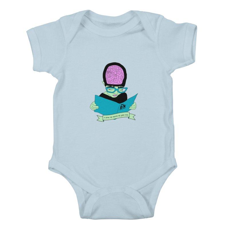 Green Zine As Weird As You Are Kids Baby Bodysuit by Chris Talbot-Heindls' Artist Shop
