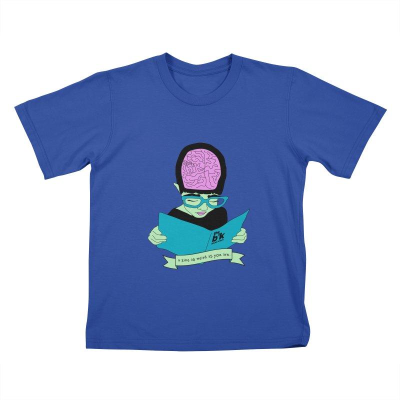 Green Zine As Weird As You Are Kids T-Shirt by Chris Talbot-Heindls' Artist Shop