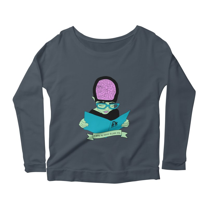 Green Zine As Weird As You Are Women's Scoop Neck Longsleeve T-Shirt by Chris Talbot-Heindls' Artist Shop