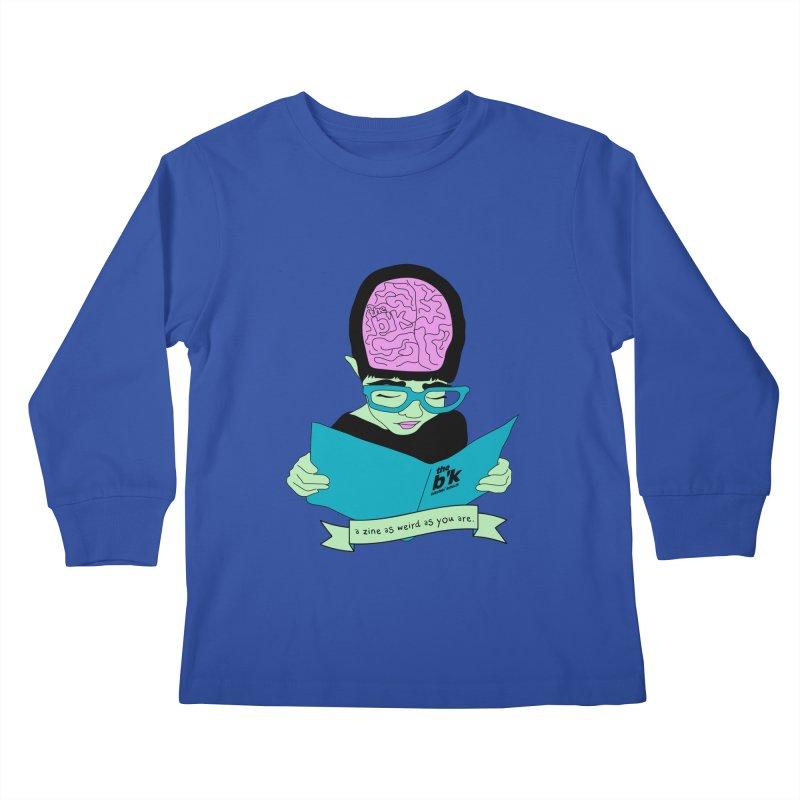 Green Zine As Weird As You Are Kids Longsleeve T-Shirt by Chris Talbot-Heindls' Artist Shop