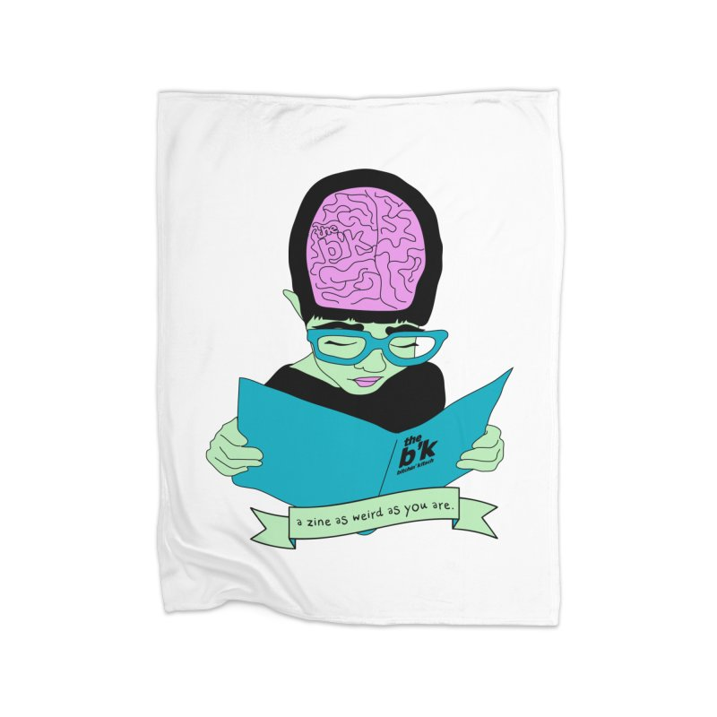 Green Zine As Weird As You Are Home Fleece Blanket Blanket by Chris Talbot-Heindls' Artist Shop