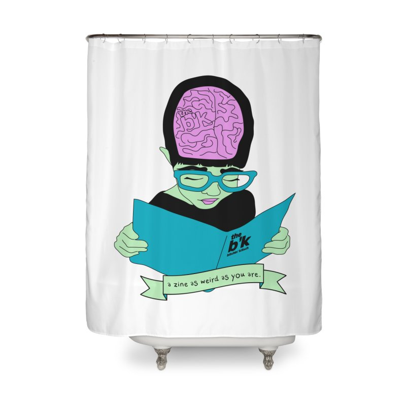 Green Zine As Weird As You Are Home Shower Curtain by Chris Talbot-Heindls' Artist Shop