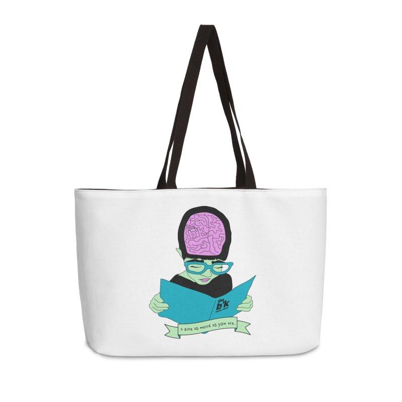 Green Zine As Weird As You Are Accessories Weekender Bag Bag by Chris Talbot-Heindls' Artist Shop