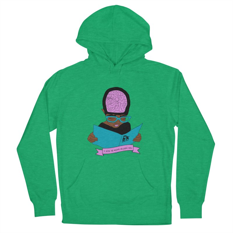 Brown Zine As Weird As You Are Women's French Terry Pullover Hoody by Chris Talbot-Heindls' Artist Shop