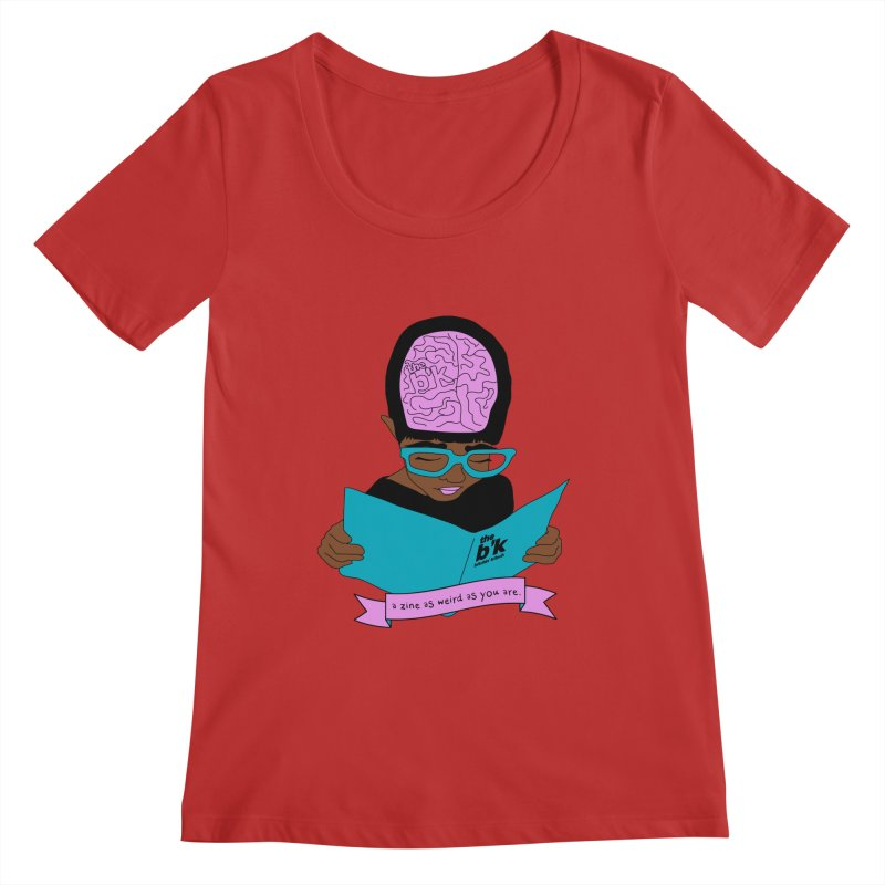 Brown Zine As Weird As You Are Women's Regular Scoop Neck by Chris Talbot-Heindls' Artist Shop