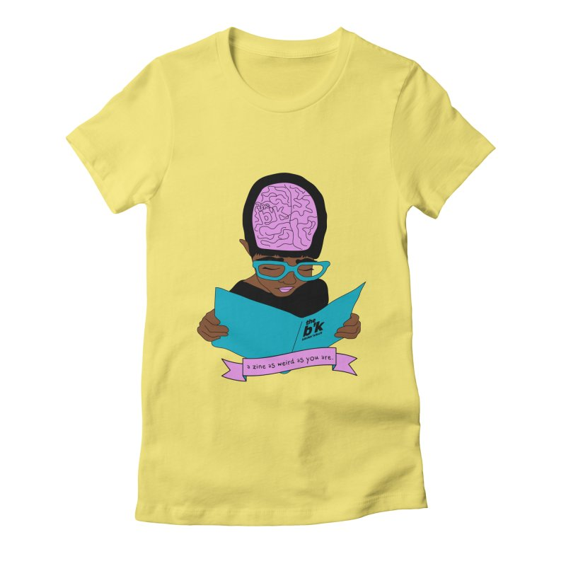 Brown Zine As Weird As You Are Women's Fitted T-Shirt by Chris Talbot-Heindls' Artist Shop
