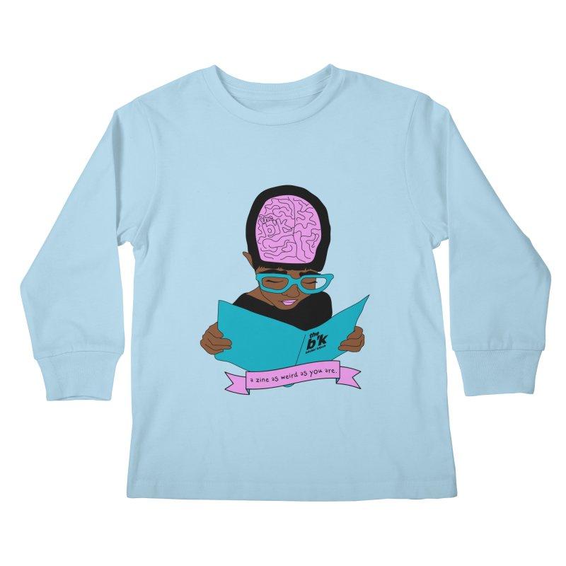 Brown Zine As Weird As You Are Kids Longsleeve T-Shirt by Chris Talbot-Heindls' Artist Shop