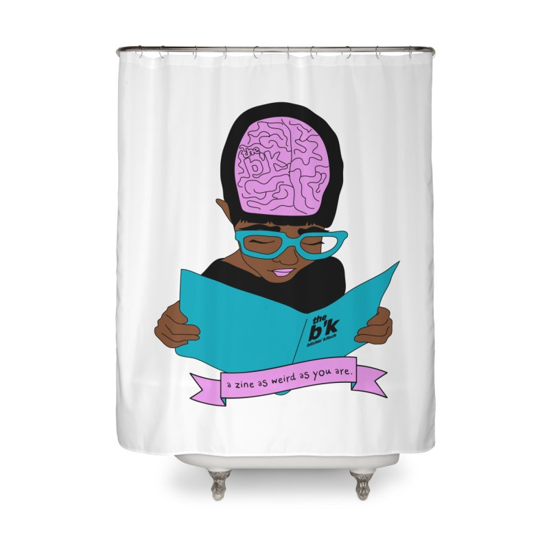 Brown Zine As Weird As You Are Home Shower Curtain by Chris Talbot-Heindls' Artist Shop