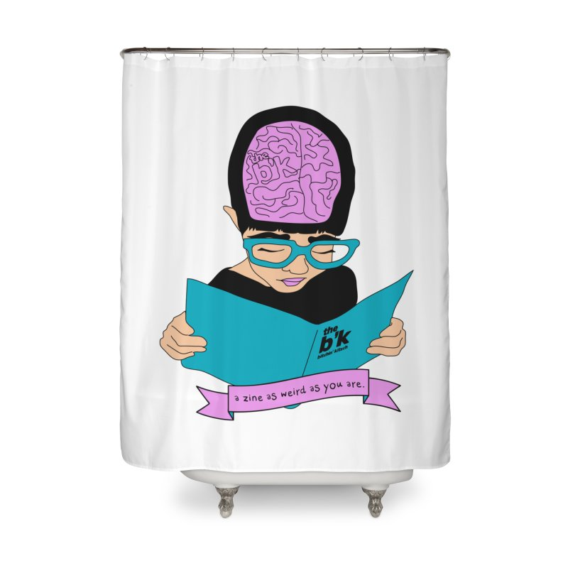 Cream Zine As Weird As You Are Home Shower Curtain by Chris Talbot-Heindls' Artist Shop