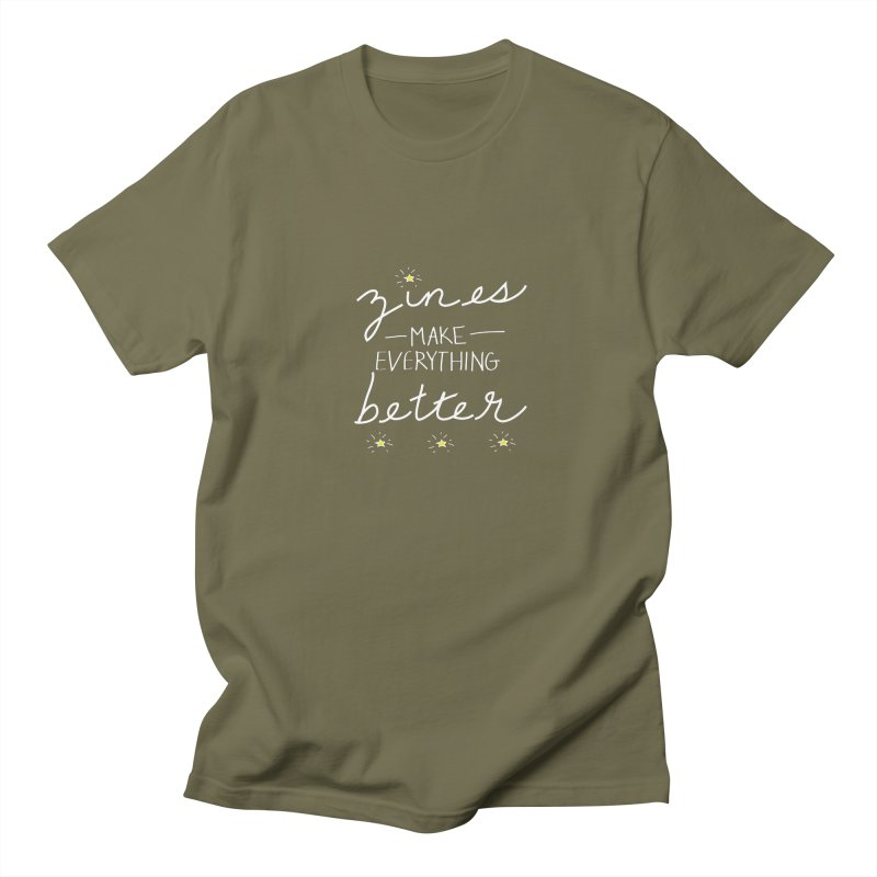 Zines Make Everything Better Men's Regular T-Shirt by Chris Talbot-Heindls' Artist Shop