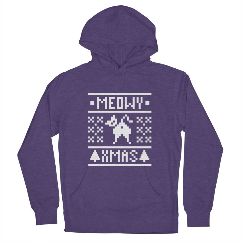 Meowy XMas Men's French Terry Pullover Hoody by Chris Talbot-Heindls' Artist Shop