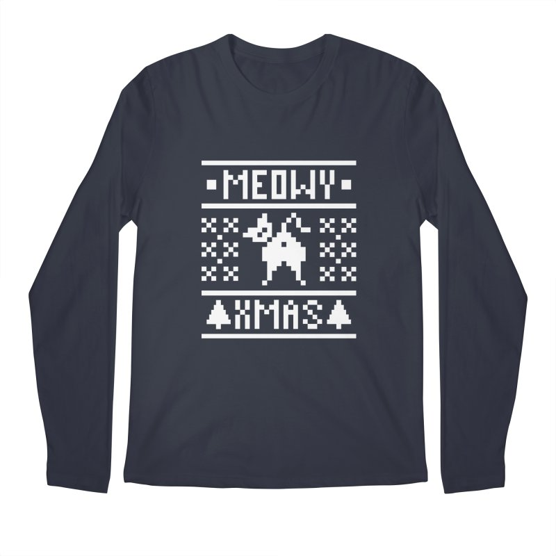 Meowy XMas Men's Regular Longsleeve T-Shirt by Chris Talbot-Heindls' Artist Shop