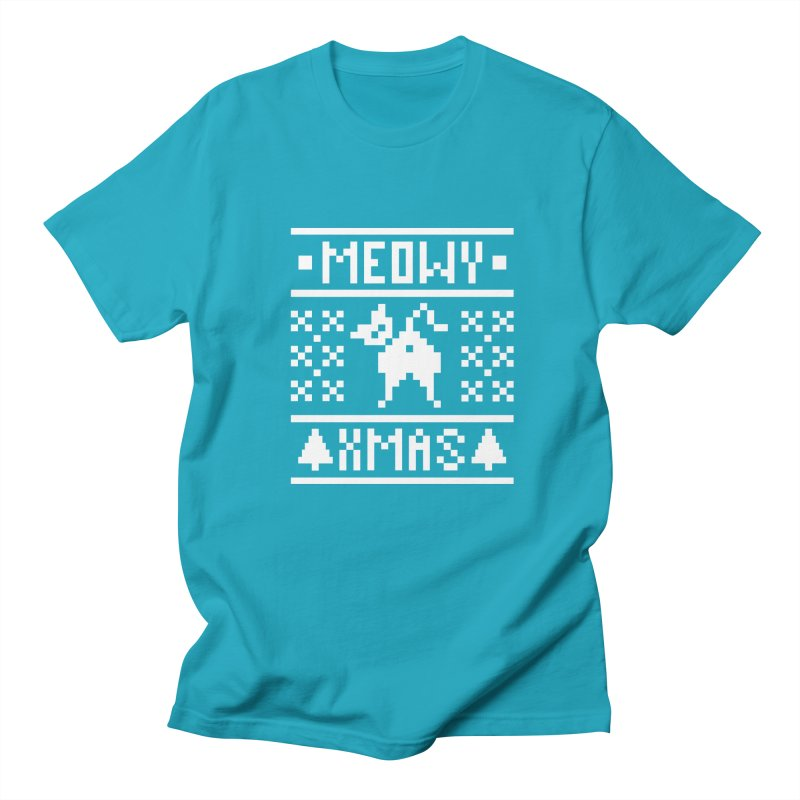 Meowy XMas Men's Regular T-Shirt by Chris Talbot-Heindls' Artist Shop