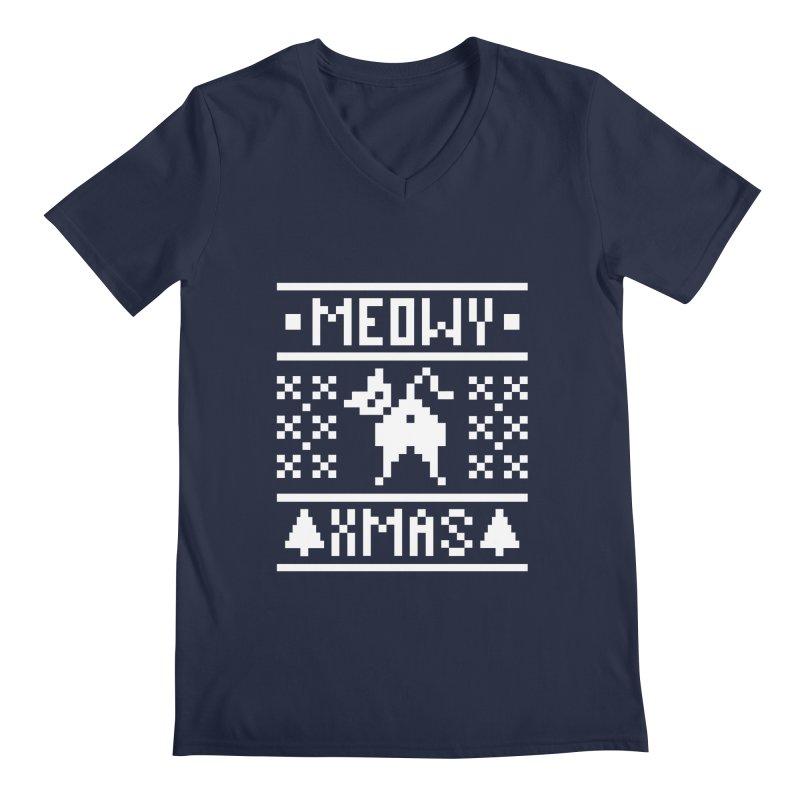 Meowy XMas Men's Regular V-Neck by Chris Talbot-Heindls' Artist Shop