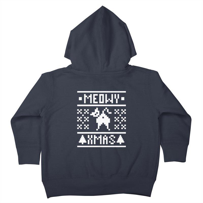 Meowy XMas Kids Toddler Zip-Up Hoody by Chris Talbot-Heindls' Artist Shop