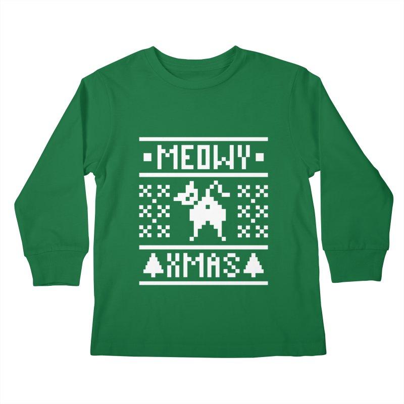Meowy XMas Kids Longsleeve T-Shirt by Chris Talbot-Heindls' Artist Shop