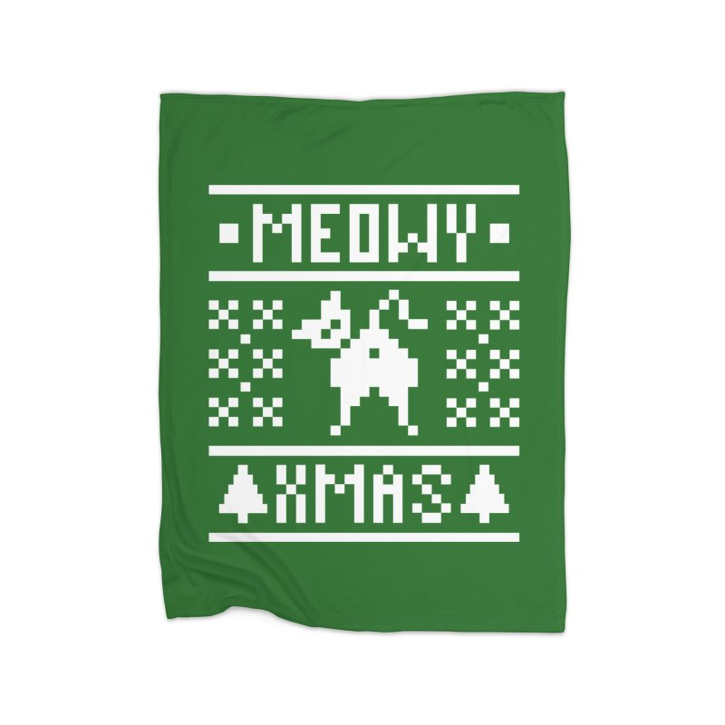 Meowy XMas Home Fleece Blanket Blanket by Chris Talbot-Heindls' Artist Shop