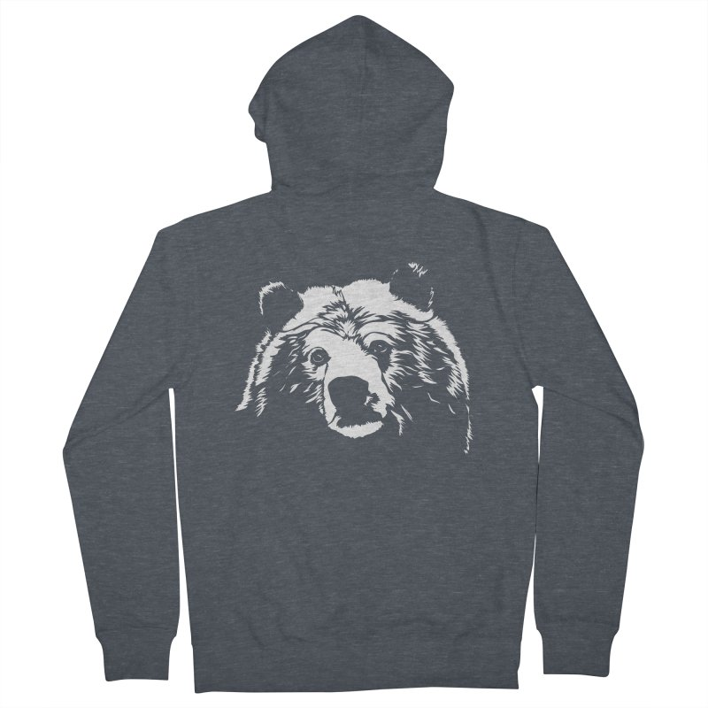 Grizzly Bear Men's French Terry Zip-Up Hoody by Chris Talbot-Heindls' Artist Shop
