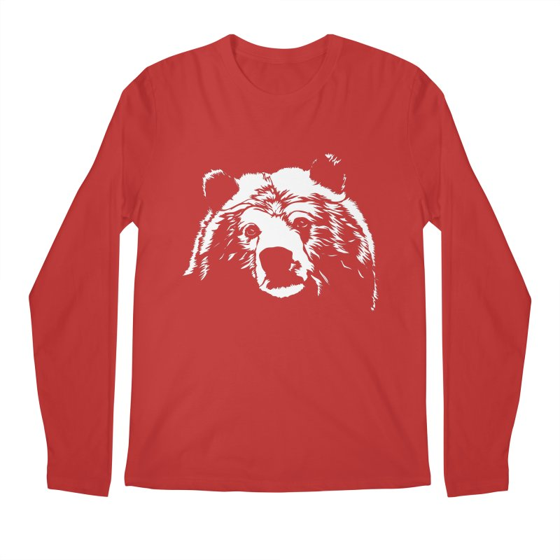 Grizzly Bear Men's Regular Longsleeve T-Shirt by Chris Talbot-Heindls' Artist Shop