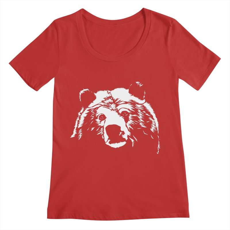 Grizzly Bear Women's Regular Scoop Neck by Chris Talbot-Heindls' Artist Shop