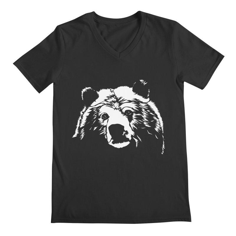 Grizzly Bear Men's Regular V-Neck by Chris Talbot-Heindls' Artist Shop
