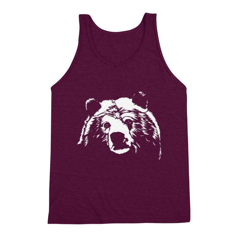 Grizzly Bear Men's Triblend Tank by Chris Talbot-Heindls' Artist Shop