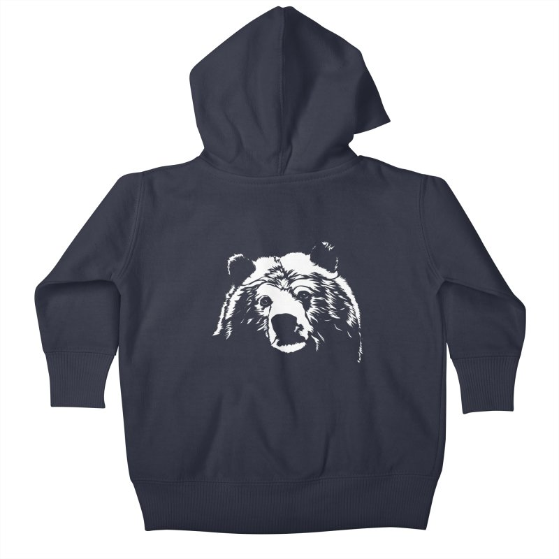 Grizzly Bear Kids Baby Zip-Up Hoody by Chris Talbot-Heindls' Artist Shop