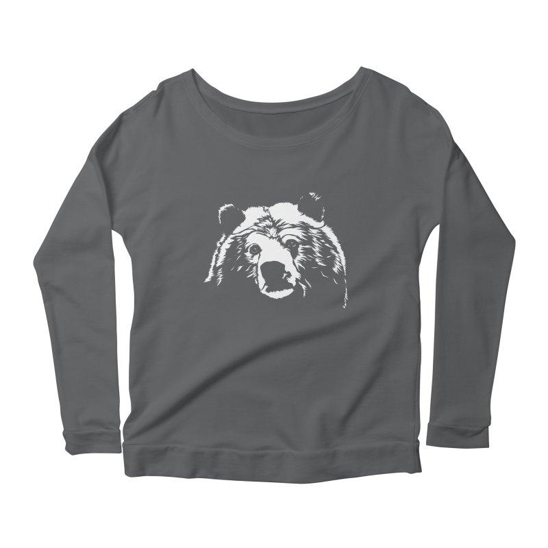 Grizzly Bear Women's Scoop Neck Longsleeve T-Shirt by Chris Talbot-Heindls' Artist Shop