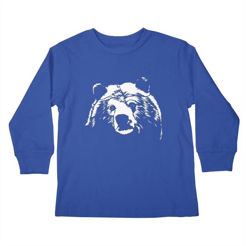 Grizzly Bear Kids Longsleeve T-Shirt by Chris Talbot-Heindls' Artist Shop