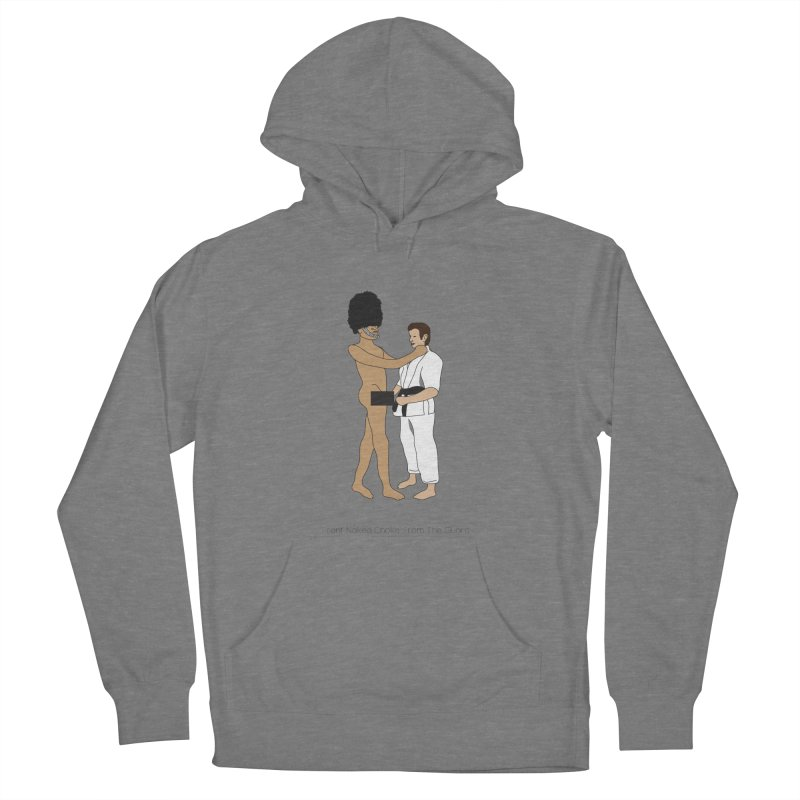 Front Naked Choke From the Guard Men's French Terry Pullover Hoody by Chris Talbot-Heindls' Artist Shop