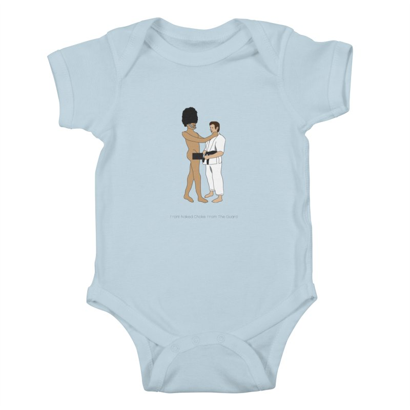 Front Naked Choke From the Guard Kids Baby Bodysuit by Chris Talbot-Heindls' Artist Shop
