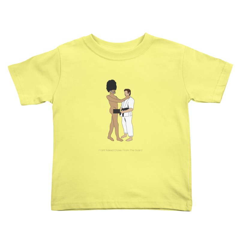 Front Naked Choke From the Guard Kids Toddler T-Shirt by Chris Talbot-Heindls' Artist Shop