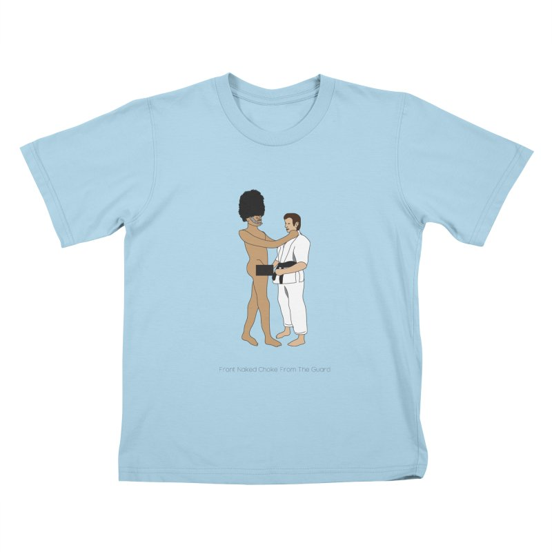 Front Naked Choke From the Guard Kids T-Shirt by Chris Talbot-Heindls' Artist Shop