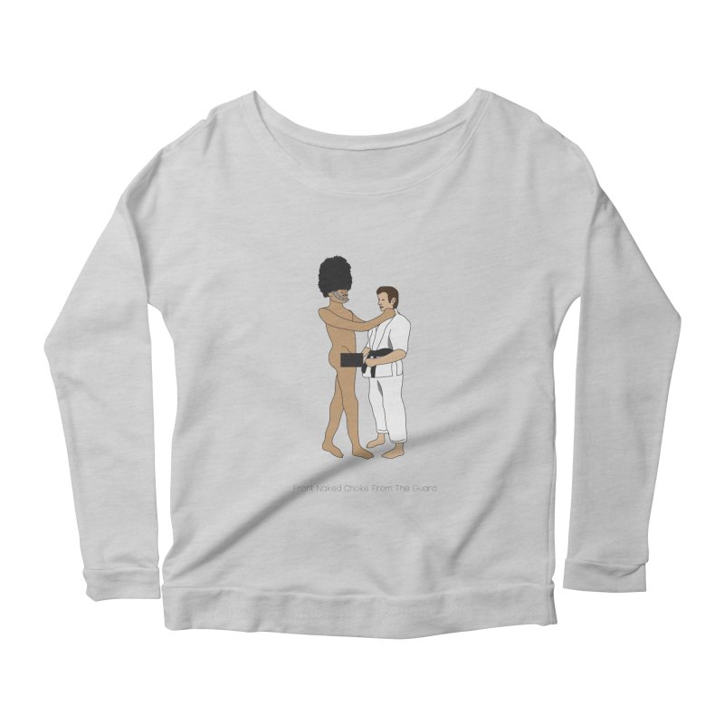 Front Naked Choke From the Guard Women's Scoop Neck Longsleeve T-Shirt by Chris Talbot-Heindls' Artist Shop