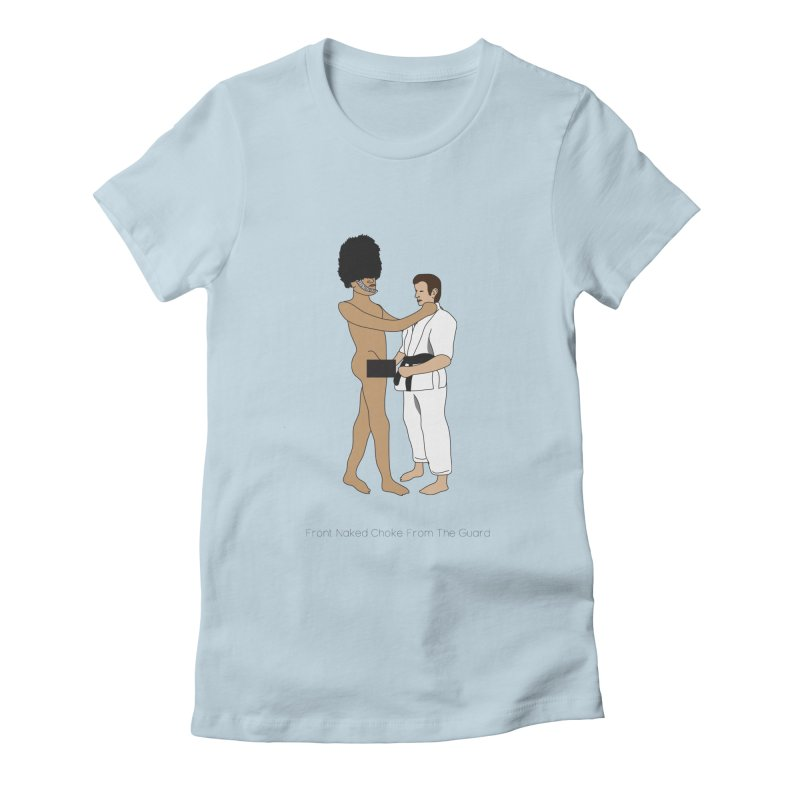 Front Naked Choke From the Guard Women's Fitted T-Shirt by Chris Talbot-Heindls' Artist Shop