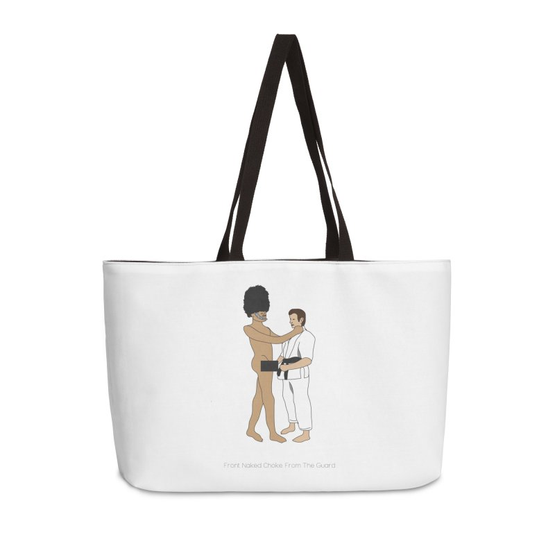 Front Naked Choke From the Guard Accessories Weekender Bag Bag by Chris Talbot-Heindls' Artist Shop