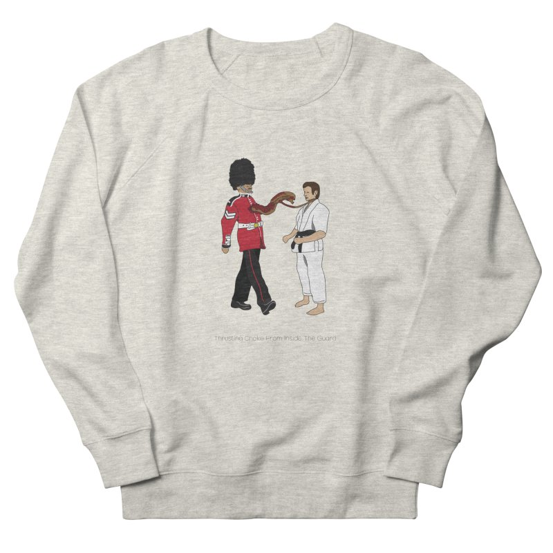 Thrusting Choke From Inside the Guard Men's French Terry Sweatshirt by Chris Talbot-Heindls' Artist Shop
