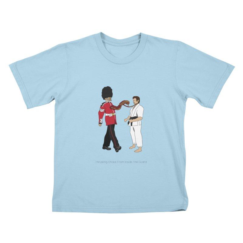 Thrusting Choke From Inside the Guard Kids T-Shirt by Chris Talbot-Heindls' Artist Shop